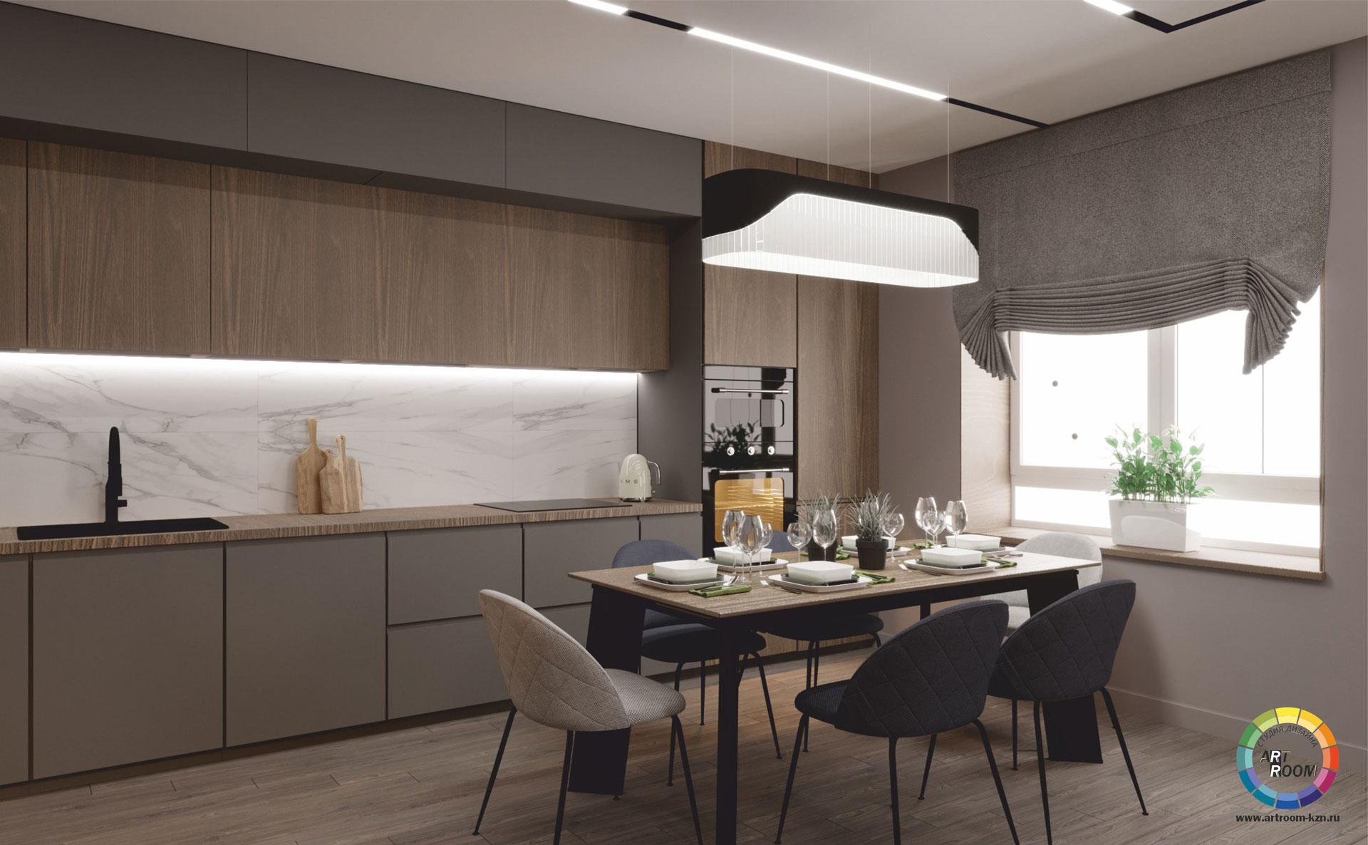 прихожая-кухня-гостиная-7